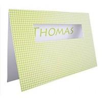 Karte VICHY GREEN inkl. Kuvert als individuelle Karte auf Wunsch auch inkl. Druckservice