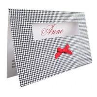Karte VICHY NOIRE inkl. Kuvert - Dankeskarten, Geburtsanzeigen, Hochzeitseinladungen & Hochzeitskarten auf Wunsch Druckservice